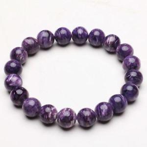 【送料無料】ブレスレット アクセサリ― クリスタルビーズブレスレットストレッチ101mm natural purple charoite crystal gemstone stretch beads bracelet zlbb041