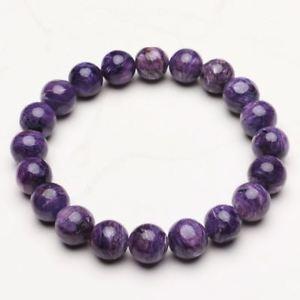【送料無料】ブレスレット アクセサリ― クリスタルビーズブレスレットストレッチ103mm natural purple charoite crystal gemstone stretch beads bracelet zlbb055