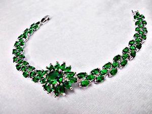 【送料無料】ブレスレット アクセサリ― ブレスレットエメラルドシルバーkホワイトゴールドグランプリライン75 bracelet emerald syn silver 18k white gold filled gp bridal flower line big