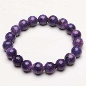 【送料無料】ブレスレット アクセサリ― クリスタルビーズブレスレットストレッチ103mm natural purple charoite crystal gemstone stretch beads bracelet zlbb052