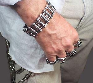 【送料無料】ブレスレット アクセサリ― トーンメンズバイクチェーンブレスレットステンレススチールtwo tone mens bike chain bracelet stainless steel 254cm large guys holy
