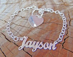 【送料無料】ブレスレット アクセサリ― パーソナライズブレスレットブレスレットスターリングシルバーpersonalized name bracelet any name bracelet sterling silver 0925