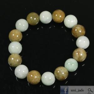 【送料無料】ブレスレット アクセサリ― ラウンドビーズミリレッドグリーンブレスレットハンドメイドround beads 13mm 2 color red green bracelet 100 genuine handmade a jadeite jade