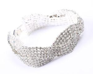 【送料無料】ブレスレット アクセサリ― ボックスシルバートーンラインストーンクリアツイストブレスレット in box silver tone and clear rhinestone twist bracelet