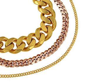 【送料無料】ブレスレット アクセサリ― ブレスレットbracelet curb chaine gold plated or yellow or rose gold doubl jewelry men women