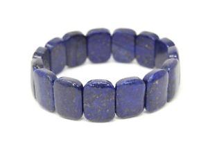 【送料無料】ブレスレット アクセサリ― ラピスラズリブレスレットbeautiful bracelet made of gemstones lapis lazuli in rounded rectangle form