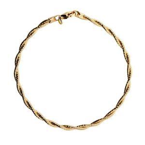 【送料無料】ブレスレット アクセサリ― ストランドブレスレットスターリングシルバーツイスト listinggold vermeil 2 strand twist bracelet 925 sterling silver by azendi