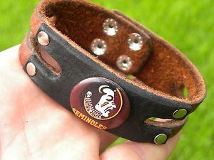 【送料無料】ブレスレット アクセサリ― ブレスレットバイカーカウボーイフロリダセミノールロゴcufflink bracelets quality biker cowboy florida state seminoles logo