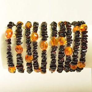 【送料無料】ブレスレット アクセサリ― バルトブレスレットチェリーバロックlot of baltic amber bracelet adults cherry baroque colors certificate 2222