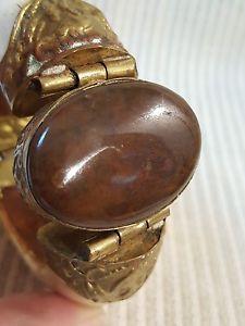 【送料無料】ブレスレット アクセサリ― ヒンジブレスレットブレスレットnatural stone, brass, wood hinged bracelet bracelet