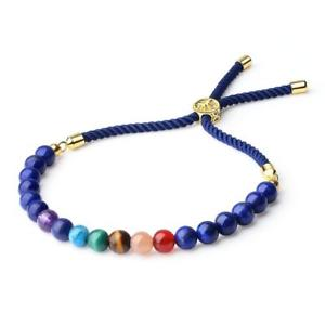 【送料無料】ブレスレット アクセサリ― チャクラボロブレスレットツリーcoai tree of life womens semi precious gems 7 chakra stone bolo bracelet