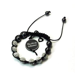 【送料無料】ブレスレット アクセサリ― ヘマタイトクリアクリスタルディスコボールアジャスタブルブレスレットtoc treated hematite amp; 7 clear crystal disco ball adjustable bracelet