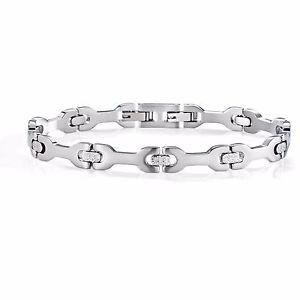 【送料無料】ブレスレット アクセサリ― ブレスレットセクターメンズスチールシルバーbracelet sector mens szs26 basic jewelry polished steel adjustable silver
