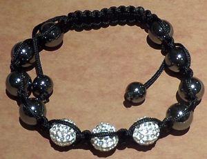 【送料無料】ブレスレット アクセサリ― ビーズブレスレットbeaded bracelet with three crystal balls