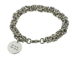 【送料無料】ブレスレット アクセサリ― ブレスレットグリッドパーソナライズチェーンレディースカスタマイズlongitude latitude bracelet grid coordinate personalised chain ladies customised