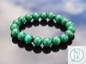 【送料無料】ブレスレット アクセサリ― マラカイトミリブレスレットgenuine malachite 10mm natural gemstone bracelet 69 elasticated healing stone