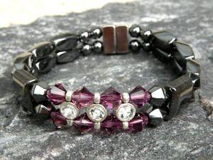 【送料無料】ブレスレット アクセサリ― ブレスレットラインストーンスワロフスキークリスタルwomens magnetic bracelet anklet rhinestone 12 choices with swarovski crystal