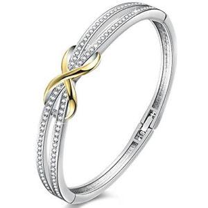 【送料無料】ブレスレット アクセサリ― スワロフスキーブレースシェイプブレスレットレディースforever ever knot shape bracelets womens crystals from swarovski brace
