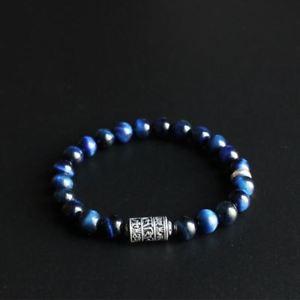 【送料無料】ブレスレット アクセサリ― チベットマントラトーテムブレスレットビーズblue eagle eye stone beads with tibetan buddhism mantra totem charm bracelet
