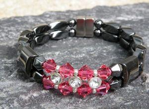 【送料無料】ブレスレット アクセサリ― ブレスレットラインストーンスワロフスキークリスタルwomens magnetic bracelet anklet rhinestone 14 choices with swarovski crystal