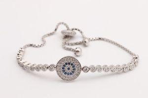 【送料無料】ブレスレット アクセサリ― ラウンドハンドメイドジュエリースターリングシルバーテニスブレスレットbrilliant round evil eye handmade jewelry 925 sterling silver tennis bracelet