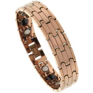 【送料無料】ブレスレット アクセサリ― タングステンカーバイドバーリンクローズゴールドカラーブレスレットtungsten carbide bar links rose gold color magnetic bracelet