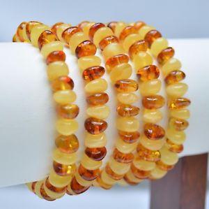 【送料無料】ブレスレット アクセサリ― ロットバルトバロックコニャックブレスレットlot 5 whole genuine baltic amber baroque cognac adult bracelet 37,9g ta2110