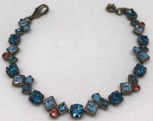 【送料無料】ブレスレット アクセサリ― マルチカラークリスタルブレスレット listingsorrelli multicolor crystal bracelet