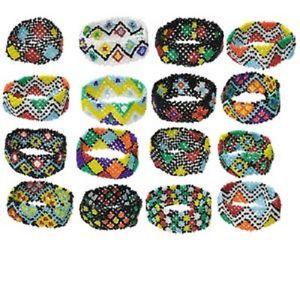 【送料無料】ブレスレット アクセサリ― バルクブレスレットミックスガラスシードビーズインチストレッチ1154as bulk, re, bracelet mix, glass seed bead, 7inch stretch, 16 qty