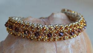 【送料無料】ブレスレット アクセサリ― トパーズクリスタルビーズブレスレットスワロフスキークリスタルチェコビーズ topaz crystal beaded bracelet swarovski crystals czech beads 7 yevga