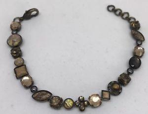 【送料無料】ブレスレット アクセサリ― マルチカラーフラワーブレスレット listingsorrelli multicolor flower crystal bracelet