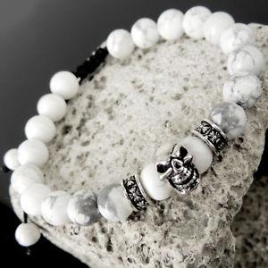 【送料無料】ブレスレット アクセサリ― スターリングシルバースカルクロスブレスレットsterling silver skull cross adjustable braided white bracelet turqunite