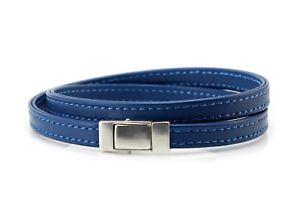 【送料無料】ブレスレット アクセサリ― ナッパレザーmens braceletdouble wrapped nappa leather925 sterling silver closureblue