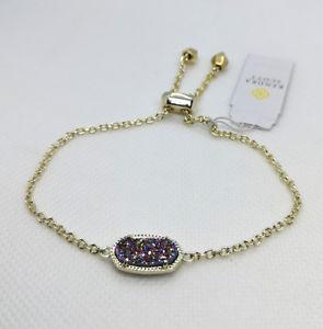 【送料無料】ブレスレット アクセサリ― スコットチェーンブレスレットマルチカラーゴールドnwt kendra scott elaina adjustable chain bracelet in multicolor drusy gold