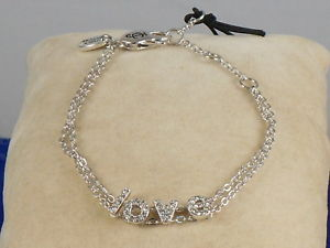 【送料無料】ブレスレット アクセサリ― ジューシークチュールチェーンブレスレットドルjuicy couture silvertone pave love letters chain bracelet wjw68679 040 58
