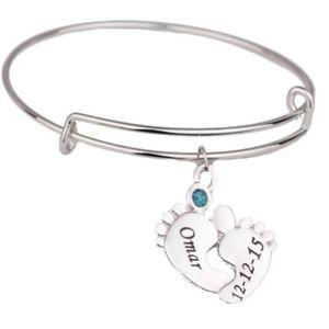 【送料無料】ブレスレット アクセサリ― フィートカスタムブレスレット1 feet custom bracelet name birth stonelamp;d