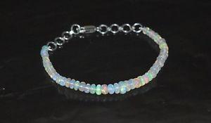 【送料無料】ブレスレット アクセサリ― エチオピアオパールビードブレスレットシルバークラスプnatural ethiopian fire opal gems bead birthstone 75 bracelet 925 silver clasp