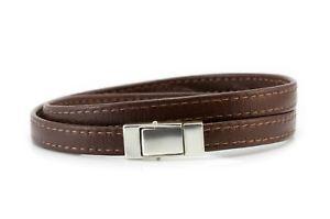 【送料無料】ブレスレット アクセサリ― メンズダブルフラットナッパレザーmens double wrapped flat nappa leather braceletsterling silver closurebrown