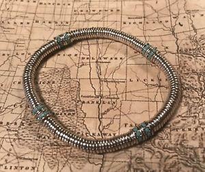 【送料無料】ブレスレット アクセサリ― リリースストレッチブレスレットシルバービーズsilpada unreleased stretch bracelet silver beaded wturquoisehtf