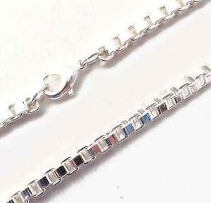 【送料無料】ブレスレット アクセサリ― ベネチアンチェーンブレスレットイタリアvenetian chain bracelet silver plated 2,6mm 1527cm woman man from italy