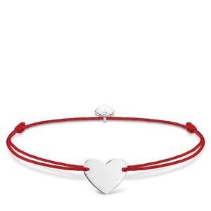【送料無料】ブレスレット アクセサリ― トーマススターリングシルバーハートレッドブレスレットgenuine thomas sabo little secrets sterling silver heart red bracelet ls006
