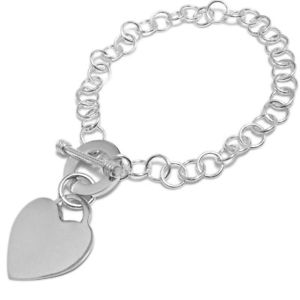 【送料無料】ブレスレット アクセサリ― パーソナライズハートタグペンダントブレスレットサービスsterling silver personalized heart tag pendant bracelet free engraving
