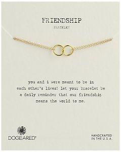 【送料無料】ブレスレット アクセサリ― ゴールドローダブルリンクリングチェーンブレスレットdogeared friendship gold dipped double linked rings chain bracelet