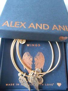【送料無料】ブレスレット アクセサリ― アレックスブレスレットラファエリアンゴールドalex and ani wings set of two expandable bracelets rafaelian gold nwtbc