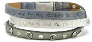 【送料無料】ブレスレット アクセサリ― トリオカフブレスレットgood works trio scripture leather magnetic cuff bracelet clarity