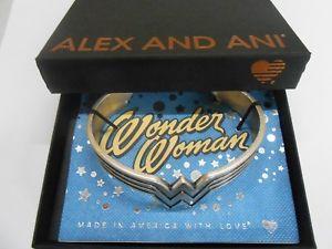 【送料無料】ブレスレット アクセサリ― アレックスワンダーウーマンカフブレスレットラファエリアンalex and ani wonder woman cuff bracelet rafaelian silver nwtbc