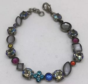 【送料無料】ブレスレット アクセサリ― マルチカラーフラワーブレスレットsorrelli multicolor flower crystal bracelet
