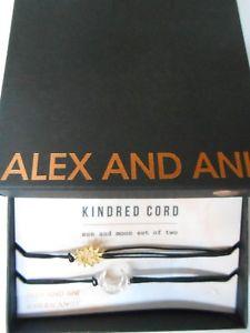 【送料無料】ブレスレット アクセサリ― アレックスキンドレッドコードサンムーンブレスレットシルバーktalex and ani kindred cord sunmoon bracelet shiny silver14kt gp nwtbc 2017