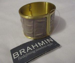 【送料無料】ブレスレット アクセサリ― カフブレスレットカシスメルボルンnwt brahmin large cuff bracelet cassis melbourne