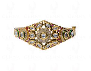 【送料無料】ブレスレット アクセサリ― ルビージルコンファッションジュエリーブレスレットグリーンエナメルruby amp; zircon studded fashion jewelry bracelet with green enamel work fb1234
